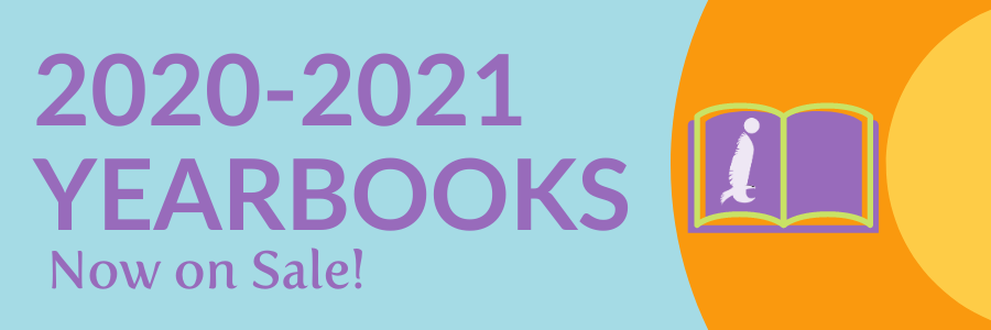 Header image that reads: 2020-2021 Yearbooks now on sale!
